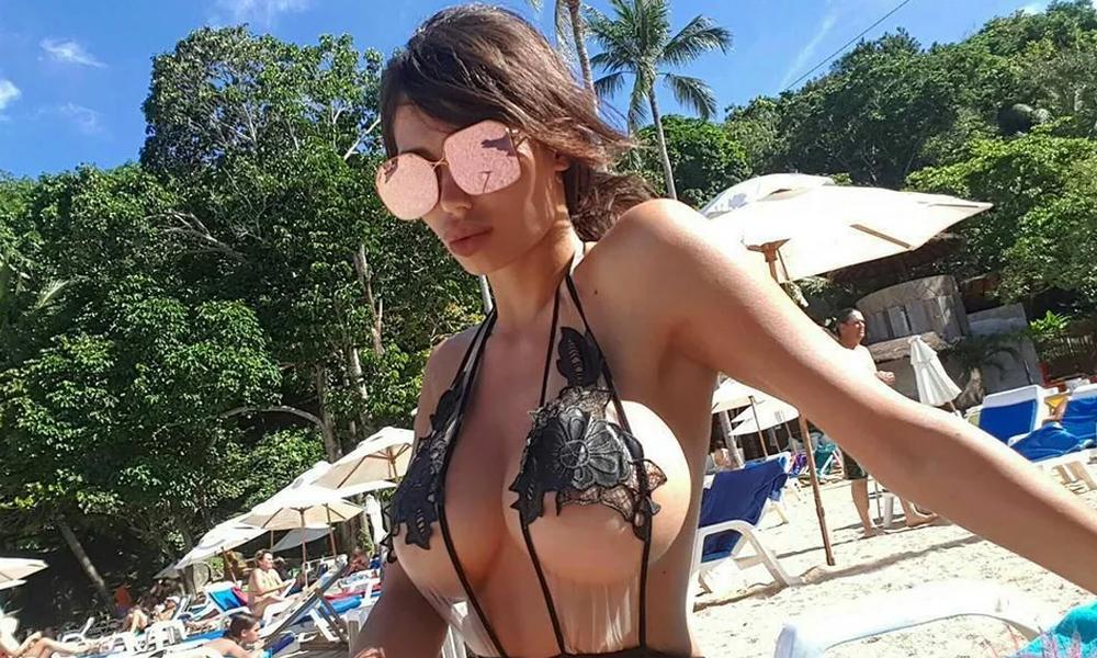 Playboy modeli Soraja Vucelic lüks aracıyla havuza uçtu!
